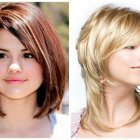Medium haircuts for round faces