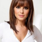 Medium length hairstyles with layers and bangs
